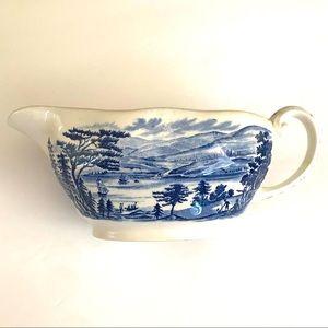 Liberty blue fine China gravy boat